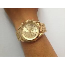 Lindo Relogio Feminino Michael Kors Mk5605 Dourado Na Caixa