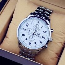 Top Marca De Luxo Relógio Quartz Em Aço Inoxidável