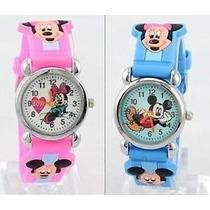 Relógio Disney Mickey Minnie Infantil Criança Pulseira 3d