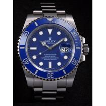 Relogio Submariner Maq. Eta Azul Prata Sedex Gratis E T A
