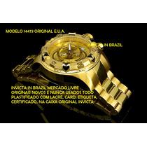 Invicta 14473 Original- Banh. Ouro 18k Na Caixa Sedex Grátis