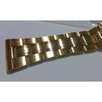 Pulseira Aço 24mm Dourada Super Resistente - Antialergica