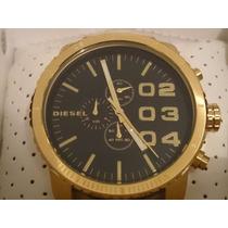 Relógio Diesel Dourado Fundo Preto Caixa Sedex Grátis