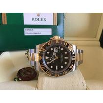 Rolex Gmt Ceramica Aço E Ouro 2015. Completo E Impecável.