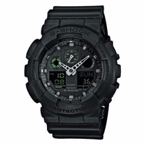 Casio G-shock Analog Digital Black Military Watch Ga100mb