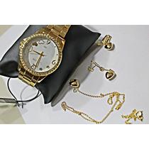 Relógio Dourado Feminino Lince (orient) Lrgj040l Prova Dágua