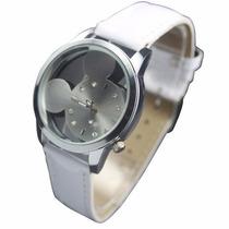Relógio De Pulso Transparente Quartzo - Mickey Mouse Disney