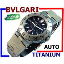 Bvlgari Titanium Automático Autêntico Carbono 100% Revisado!