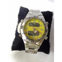 Relógio Masculino Citizen Aqualand Jp1060 Preto Em Aço