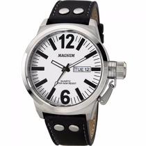 Relógio Magnum Masculino Pulseira De Couro Ma31533t