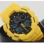 Relógio Sport Cassio Amarelo Analógico Digital Calendário
