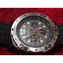 Relógio Cronógrafo Preto Com Cinza Sport Monte Carlo Lindo