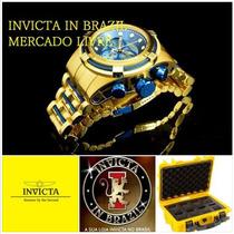 Invicta Bolt Zeus 12742 B.ouro 18k - Leia Original X Réplica