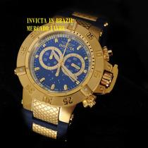 Invicta 5515 Original Na Caixa Sedex Grátis - Pulseira Azul