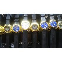 Kit Relógio Pulso Masculino Detalhe Dourado Atacado Lote 10
