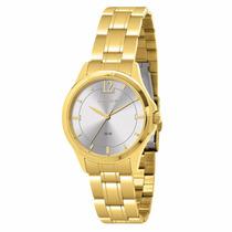 Relógio Lince Dourado Feminino (orient) Lrg4200l Prova Dágua