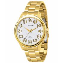 Relógio Lince Feminino Dourado (orient) Lrg4183l Prova Dágua