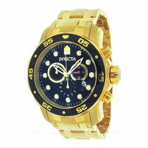 Invicta 0072 Pro Diver Chronograph 18k Gold - Original - Eua