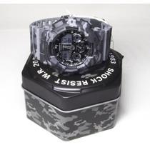 Casio G-shock Ga-100cm-8adr 20atm Camuflado Com Nfe