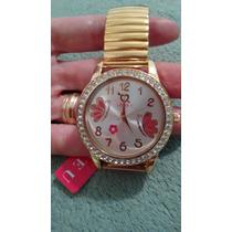 Relógio Dourado Com Strass Feminino Frete Barato
