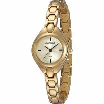 Relógio Mondaine Feminino Dourado Pequeno 83227lpmgdm1