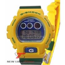 Relógio Casio G-shock Dw-6900br-9dra *pulseira Extra Amarela