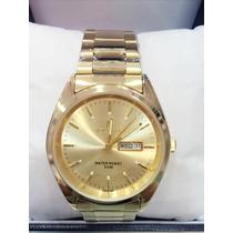Relógio Masculino Atlantis Original Dourado Dois Calendário