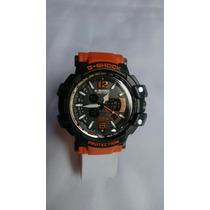 Relógio G Shock Preto C/laranja