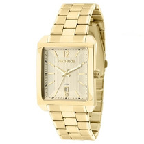 Relógio Technos Masculino Quadrado Dourado 2115kob/1d
