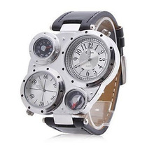 Relógio Bússola E Termômetro Militar Oulm Estilo Stile