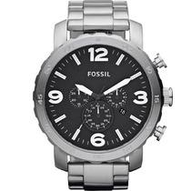 Relógio Masculino Fossil Nate Chronograph Fjr1353/z Prata
