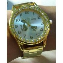 Kit Com 10 Relógios Atacado Dourados E Prata Lote/revenda