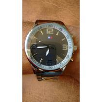 Relógio Prata Pulseira De Aço Tommy