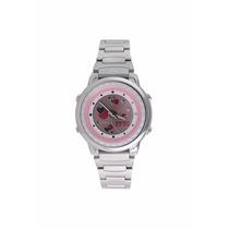 Relógio Casio Feminino Analógio E Digital Em Aço Law25d4avdf