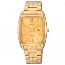Relógio Masculino Dourado Seiko 7n82al/4 Quadrado E Nf