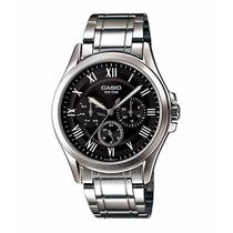 Relógio Casio Mtp-e301 D-1bv Calendário Pul. Aço Wr-50m P