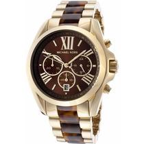 Relógio Michael Kors Mk5696 Dourado Tartaruga Frete Gratis