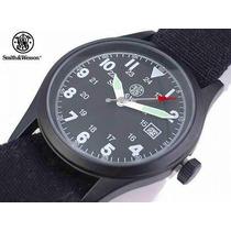 Relógio Militar Smith Wesson Preto 3 Pulseiras Seiko