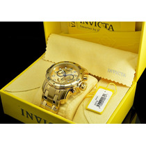 Top Invicta Pro Diver 0074 Original E.u.a. Banhado Ouro 18k
