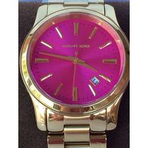 Michael Kors Runway Mk5801 18k Gold Plated Pink Dial