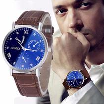 Relógio Japonês Importado Em Couro Barato