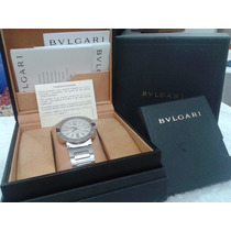 Bvlgari Bb 42 Ss Automático 42mm Caixa Manual Certificado