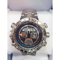 Relógio Atlantis Original Masculino Pulseira De Aço