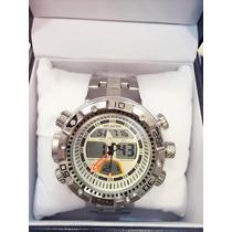 Relógio Original Masculino Pulseira De Aço