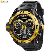 Relógio Masc Xgames Esportivo Dourado Anadigi Xmppa145 Bxpx