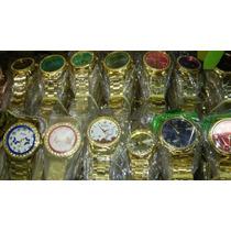 Mega Kit Relógio Feminino Dourado Atacado Lote C/10 Revenda