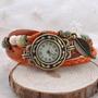 Relógio Feminino Pulseira Bracelete ,vintage Com Pingente.