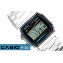 Relógio Casio Unissex Aço Inox Prova Dágua A158wa-1df