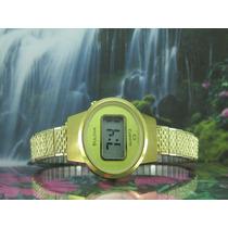 Relógio Bulova Digital N7 Original Banhado A Ouro Raridade!