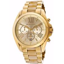 Relógio Michael Kors Mk5722 Dourado Madrepérola Frete Grátis